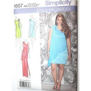 UNCUT Simplicity 1657 pattern dress one shoulder